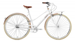 Rower Creme Caferacer Lady Doppio White Rose 7s 28""