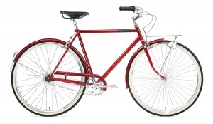 "Rower Creme Caferacer Man Doppio Red 7s 28"" S/49.5"