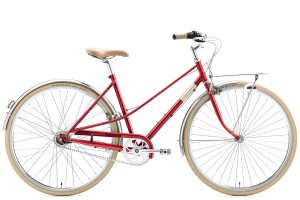 "Rower Creme Caferacer Lady Solo Red 3s 28"" M / 48,5"